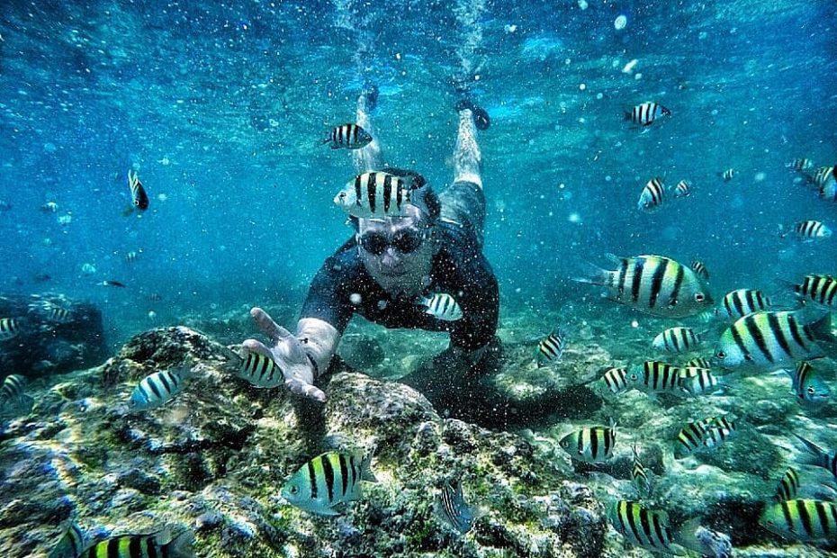 wisata snorkling pantai nglambor gunungkidul Jogja